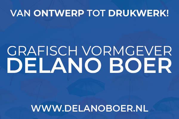 Grafisch vormgever Delano Boer, van ontwerp tot drukwerk!